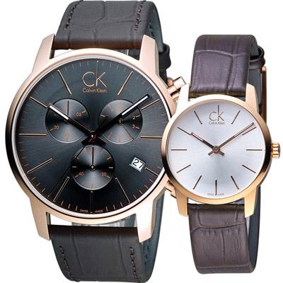 Calvin Klein  深刻愛戀時尚對錶(K2G276G3  K2G23620)