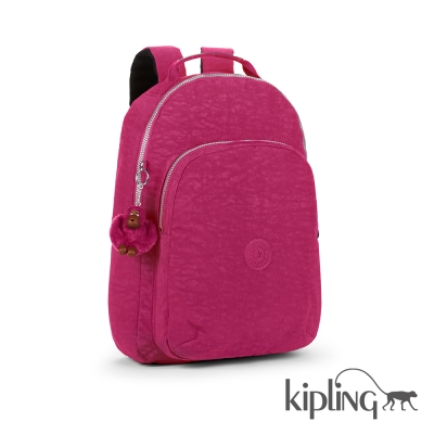 Kipling 後背包 乾燥玫瑰素面-大