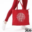 【NATURALLY JOJO】燙銀兩用帆布包(紅)