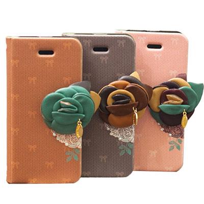 Happymori 浪漫玫瑰 APPLE iPhone5/5S/SE 專用側掀書...