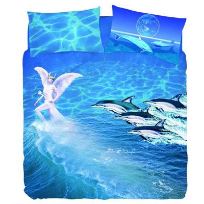 【三浦太郎】水精靈 雙人三件式床包組