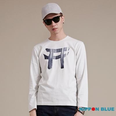 日本藍 BLUE WAY 簡約日式鳥居印花浸染長袖T恤