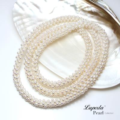 大東山珠寶 天然珍珠項鍊 法式優雅歐美古典編織珠寶