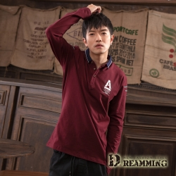 Dreamming A字三角萊卡彈力長袖POLO衫-共二色