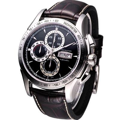 HAMILTON Lord Hamilton 機械計時腕錶-黑/46mm