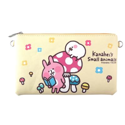 Kanahei卡娜赫拉皮質橫式手機袋/萬用包/手腕袋_香菇