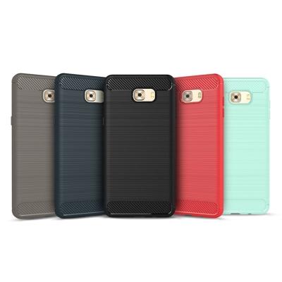 QinD SAMSUNG Galaxy C9 Pro 拉絲矽膠套