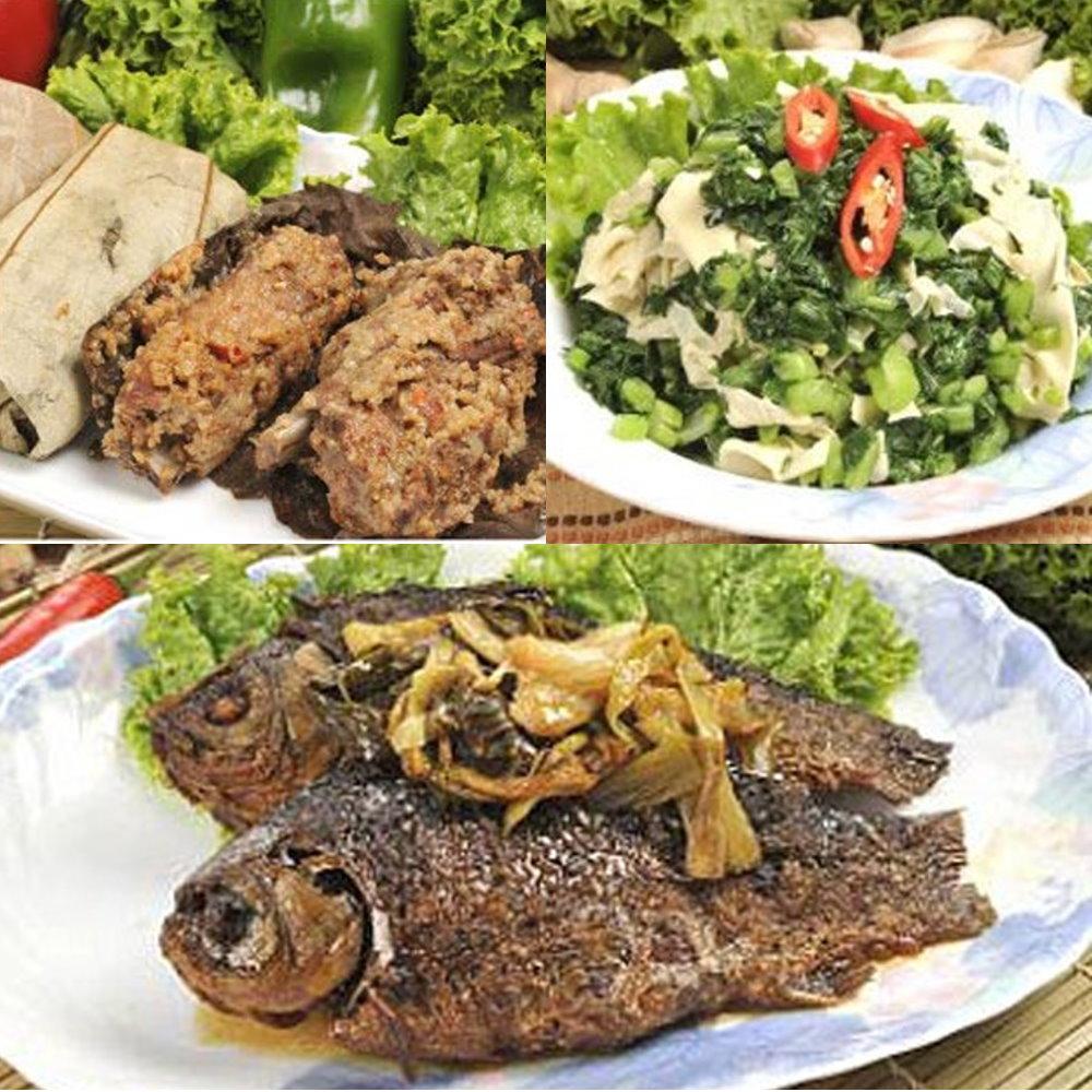南門市場逸湘齋 江浙蔥烤鯽魚、特製荷葉排骨、雪菜百頁(3件組)