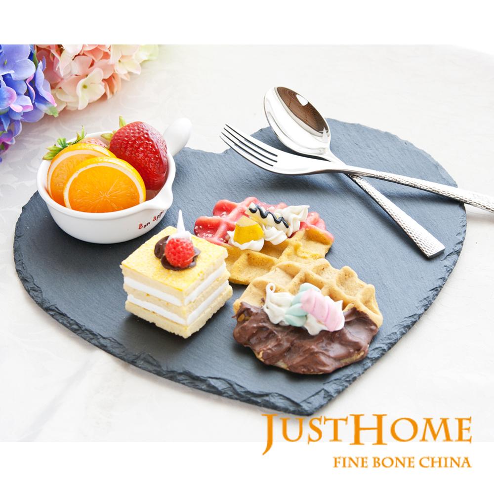 Just Home 漢克愛心造型石板蛋糕盤30x29cm