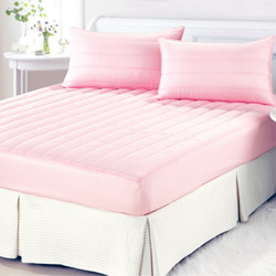 【精靈工廠】3M防潑水粉彩床包式保潔墊-櫻花粉(單人)