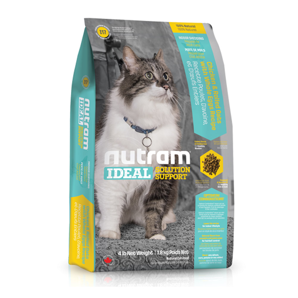 Nutram紐頓 專業理想系列 - I17 室內化毛貓 雞肉燕麥 6.8kg