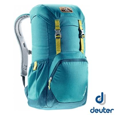 【德國 Deuter】WALKER 20 輕量透氣旅遊背包20L_湖綠/深藍