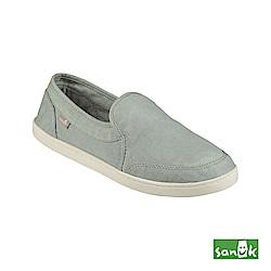 SANUK 復古水洗帆布休閒鞋-女款(灰色)