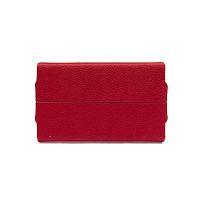 FEDON 1919 迷幻輕鋁長開皮面名片盒-紅