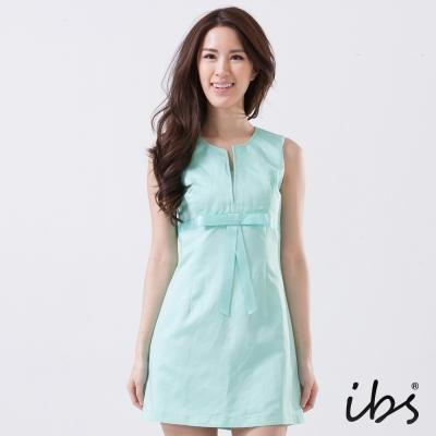 IBS-削肩V領小洋裝-女-綠