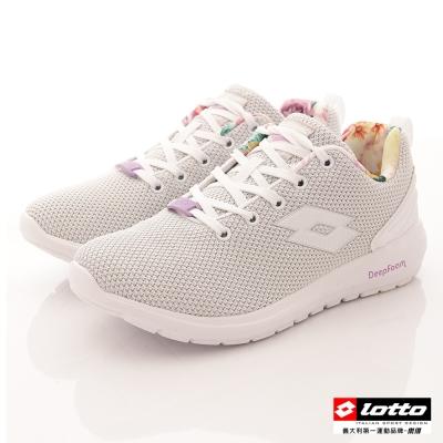 LOTTO 女款編織 透氣網布 休閒鞋 慢跑鞋-(LT7AWR5079白)