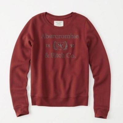 AF a&f Abercrombie & Fitch 女 長袖 T恤 紅 0335