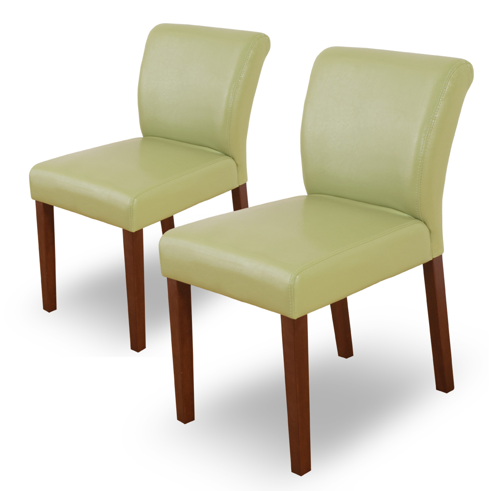 Bernice-托比簡約實木餐椅/單椅(綠色)(二入組合)-42x58x78cm