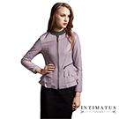 【真皮皮衣】 法式浪漫荷葉邊頂級小羊皮皮衣 薰衣草紫色-INTIMATUS