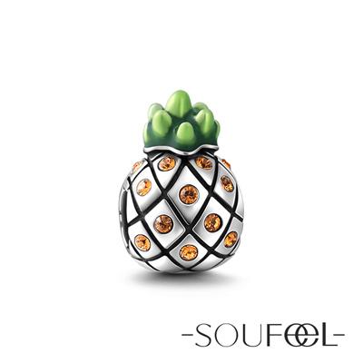 SOUFEEL索菲爾 925純銀珠飾 夏威夷鳳梨 串珠