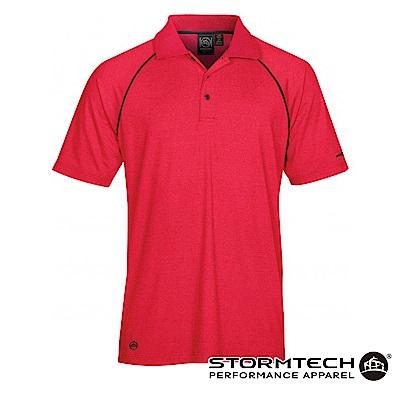 【加拿大STORMTECH】IPS-4 吸濕排汗抗UV POLO衫-男-紅
