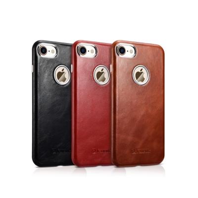 ICARER 復古系列 iPhone 7(4.7)單底背蓋 手工真皮保護套