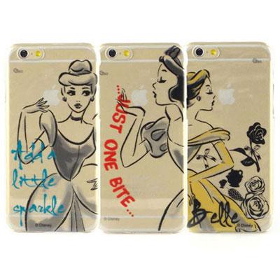 Disney iphone 6 /6s 彩繪公主系列透明手機殼