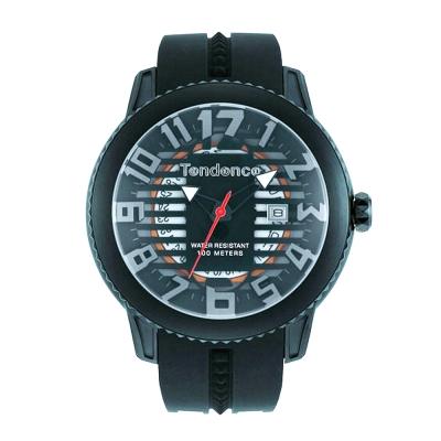 Tendence 天勢錶 圓弧系列-黑/45mm