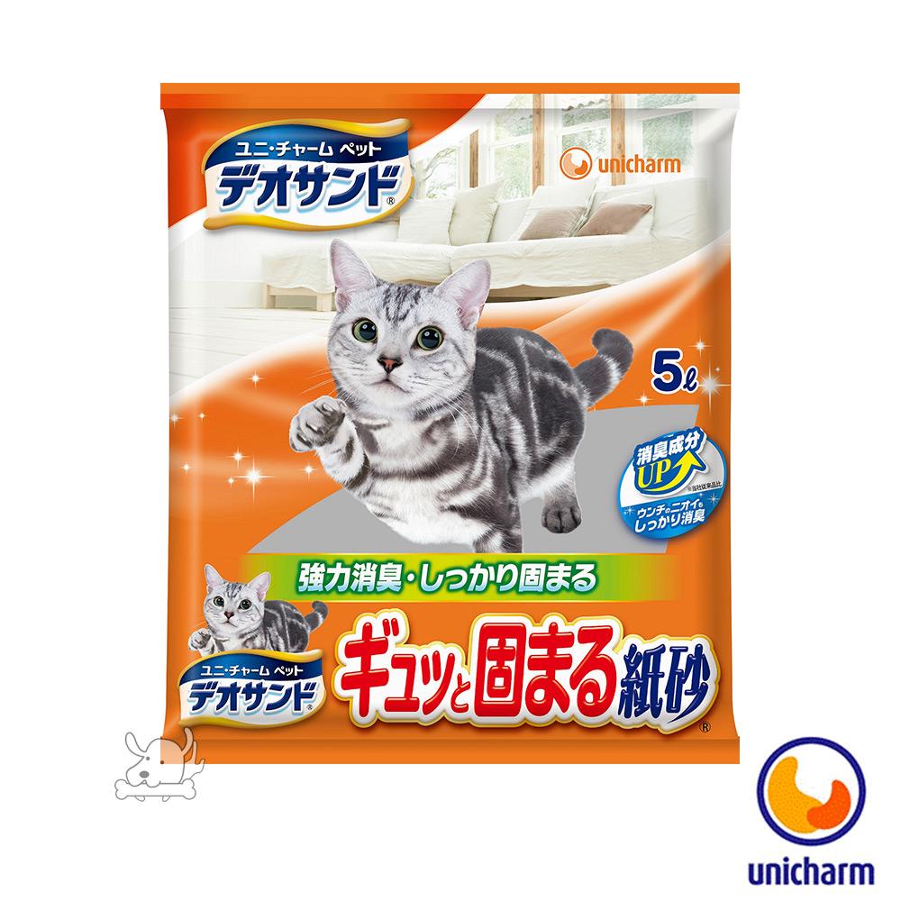 Unicharm 嬌聯 日本消臭大師 消臭紙砂5L X 6包