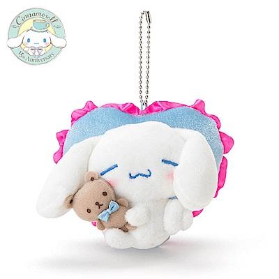 Sanrio 大耳狗喜拿15週年經典重現系列造型玩偶吊鍊(愛心靠墊)
