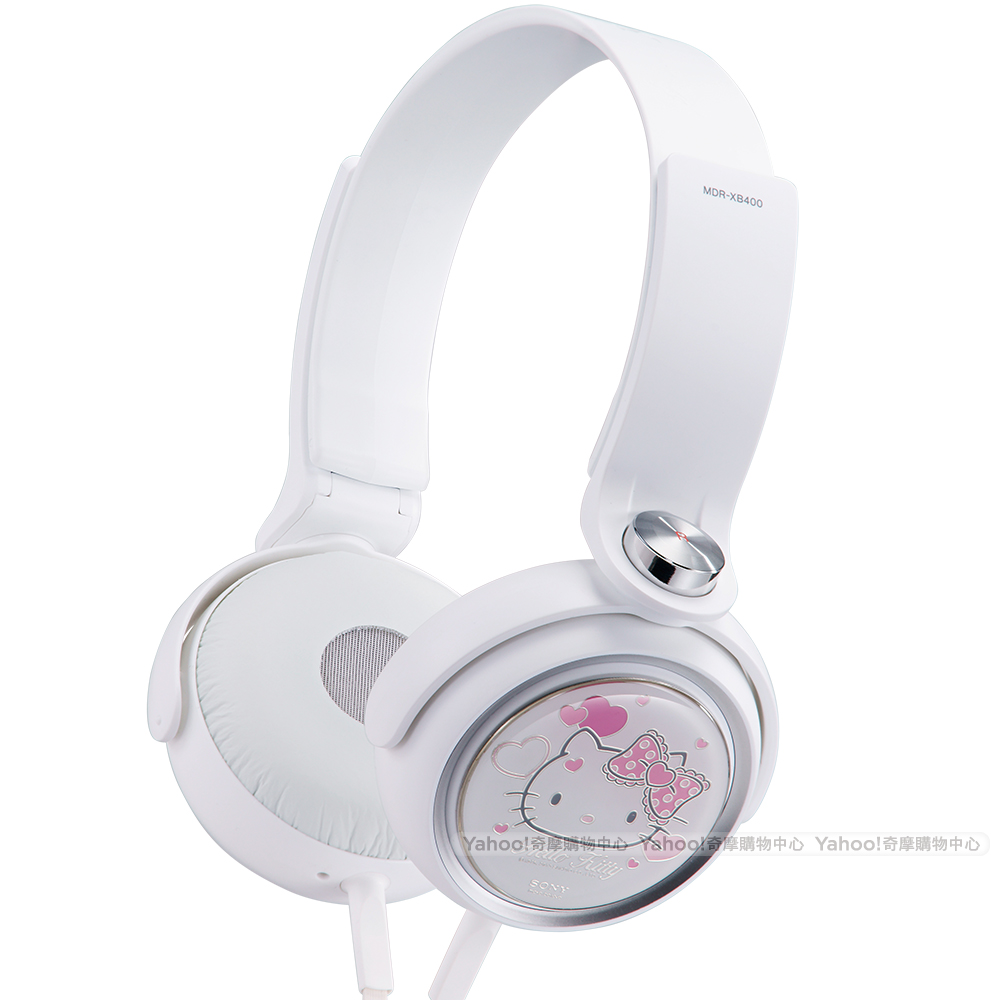 SONY MDR-XB400 Hello Kitty 頭戴式耳機 白色限量組