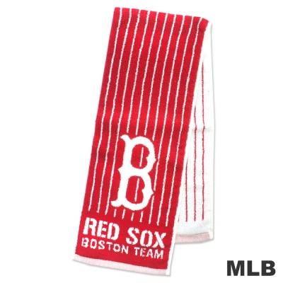 MLB-波士頓紅襪隊直式條紋款運動長巾-紅色