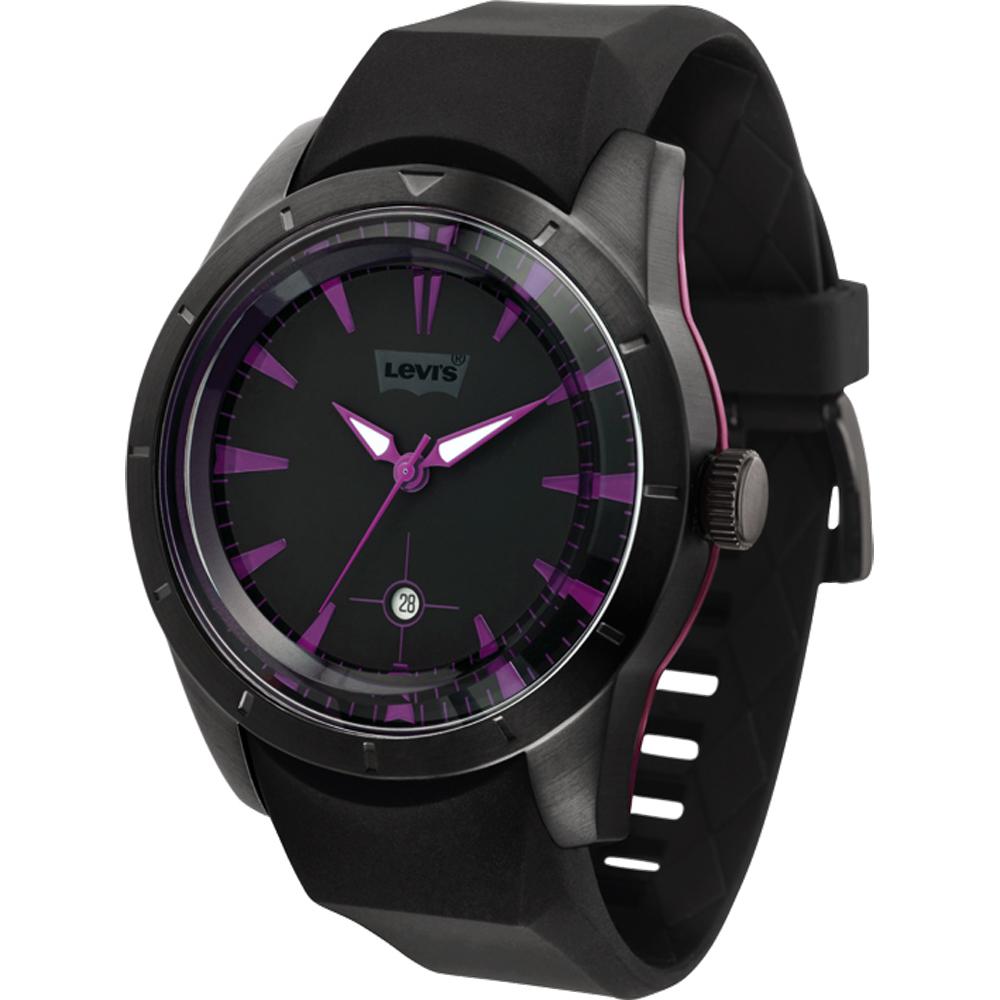 Levi s 迷人酷調手錶-黑紫/44mm