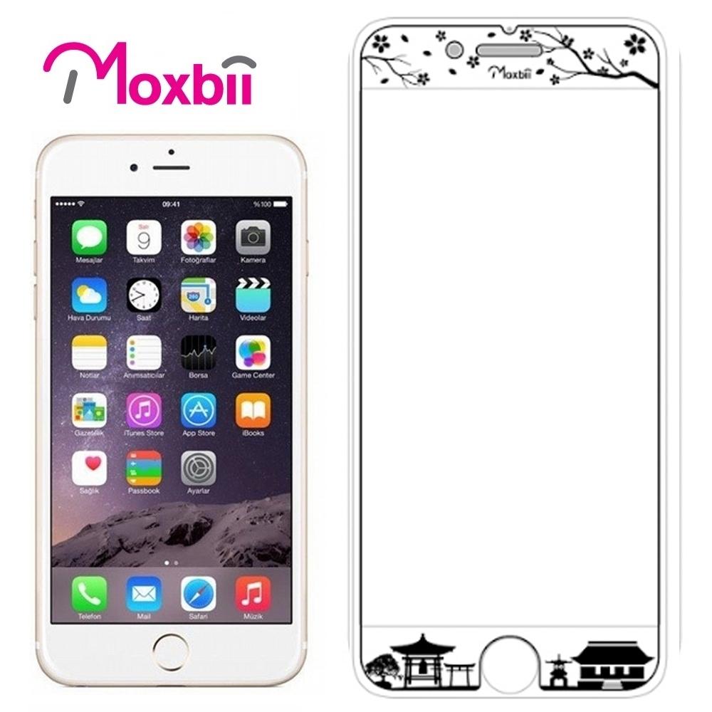 Moxbii iPhone 7 4.7吋太空盾 光雕系列 螢幕保護貼-花漾東京