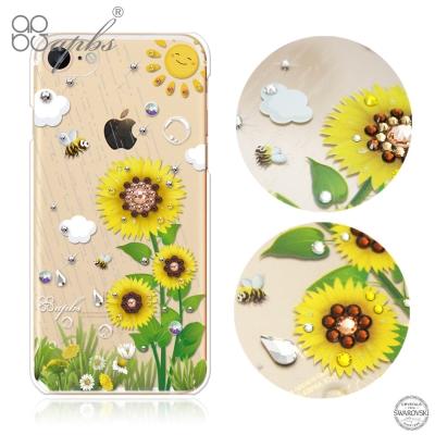 apbs iPhone8/7 4.7吋施華洛世奇彩鑽手機殼-元氣朝陽