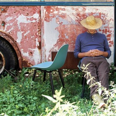 TOOU 義大利品牌 TA系列 坎帕休閒椅 橡木黑色椅腳
