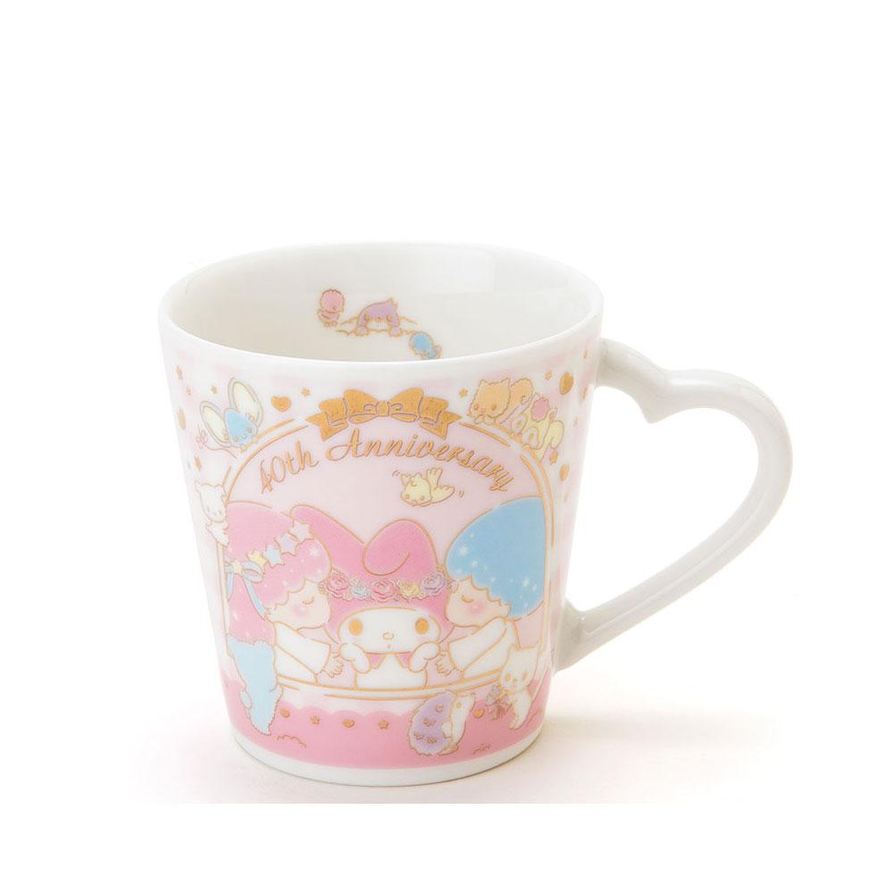 Sanrio 美樂蒂/雙星仙子40週年甜蜜親親系列陶磁馬克杯