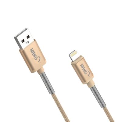 HANG Apple Lightning 8Pin 耐拔金屬快速彈簧傳輸充電線