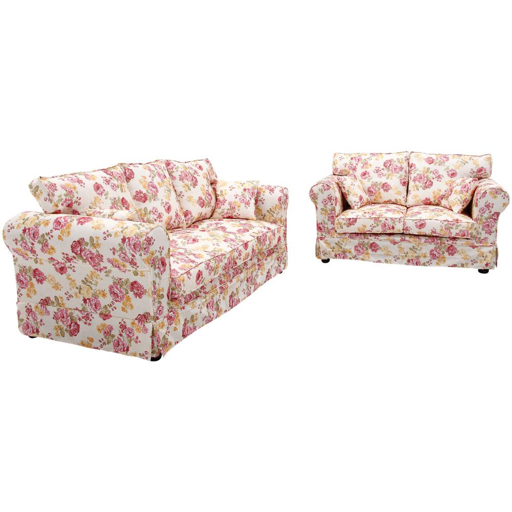 YKSHOUSE 北歐玫瑰2+3人座布沙發