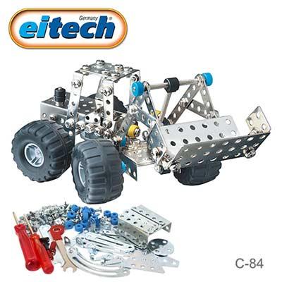 德國eitech益智鋼鐵玩具-2合1挖土機-C84