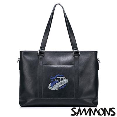 SAMMONS-布萊恩復古兩用手提包-百搭黑