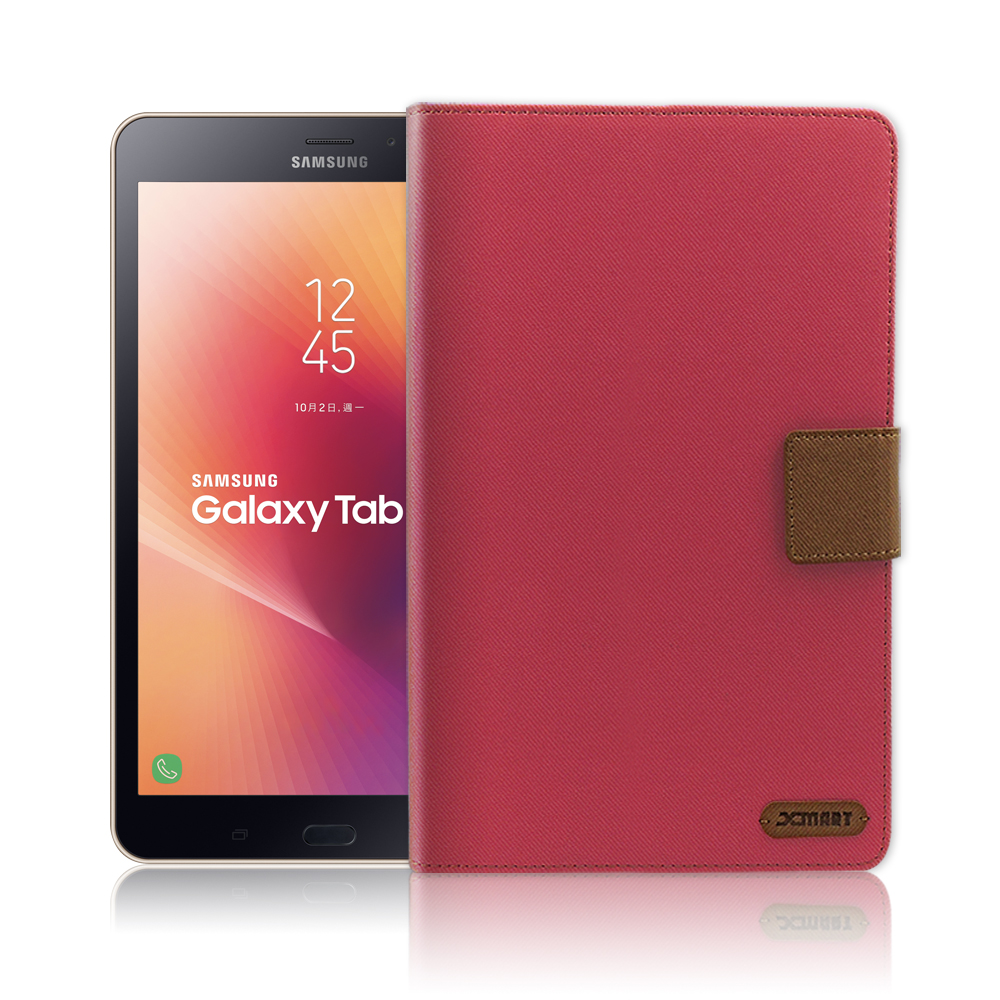 XM Samsung Galaxy Tab A 2017 T385 微笑休閒風支架皮套
