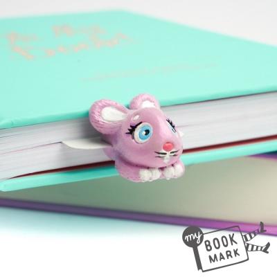 禮物myBookmark手工書籤-探頭的粉紅邦妮兔