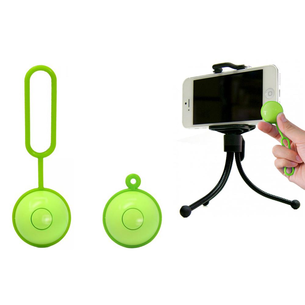 ROWA自拍神器 魔力自拍球(亮彩綠)+MINI手機夾小腳架套組