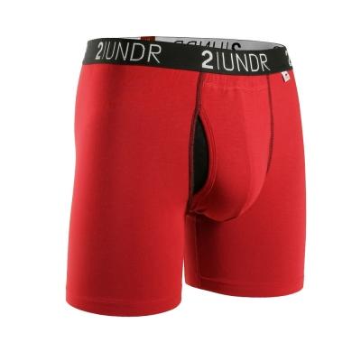 2UNDR Swing Shift 莫代爾吸排四角內褲(6吋)-紅色