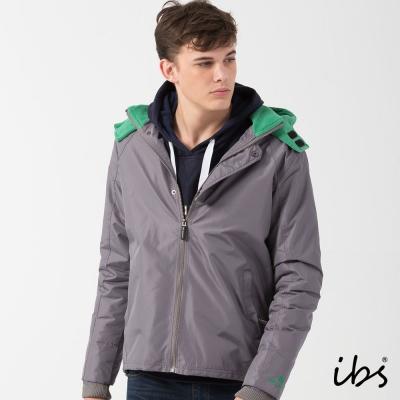 ibs時尚機能防風外套-深灰綠-男