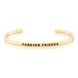 MANTRABAND FOREVER FRIENDS 一輩子的好朋友 金色手環
