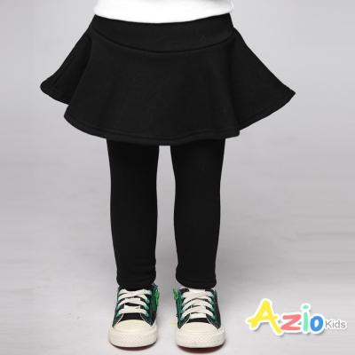 Azio Kids 童裝-內搭褲裙 不倒絨傘襬內搭褲裙(黑)