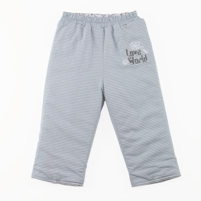 愛的世界 純棉機器人舖棉兩面穿長褲-藍/6M~3歲