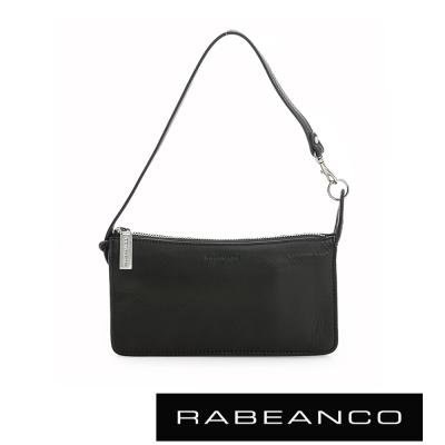 RABEANCO 頂級牛皮多層手拿包長夾 -黑